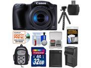 Canon PowerShot SX410 IS Digital Camera (Black) with 32GB Card + Battery & Charger + Backpack + Flex Tripod + Kit