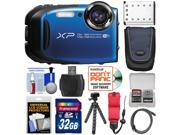 Fujifilm FinePix XP80 Shock & Waterproof Wi-Fi Digital Camera (Blue) with 32GB Card + Battery + Case + Tripod + Strap + HDMI Cable + Kit