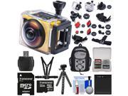 Kodak PixPro SP360 Wi-Fi HD Video Action Camera Camcorder - Extreme Pack with Chest Mount + 32GB Card + Battery + Backpack + Flex Tripod + Kit