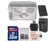 Nikon 1 Series & Coolpix Deluxe Digital Camera Case (Gray) with 32GB Card + EN-EL23 + Charger + Reader + Kit