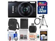 Canon PowerShot Elph 350 HS Wi-Fi Digital Camera (Black) with 32GB Card + Battery + Case + Tripod + Kit