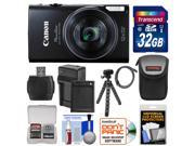 Canon PowerShot Elph 350 HS Wi-Fi Digital Camera (Black) with 32GB Card + Battery & Charger + Case + Tripod + Kit