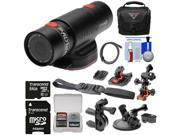 Replay XD Prime X Waterproof Wi-Fi HD Action Video Camera Camcorder with 64GB Card + 2 Helmet, Flat Surface, Suction Cup & Bike Handlebar Mounts + Case + Kit