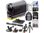 Sony Action Cam HDR-AS20 Wi-Fi 1080p HD Video Camera Camcorder with 64GB Card + Suction Cup, Dashboard, Flat & 2 Helmet Mounts + Battery + Backpack + Kit