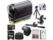 Sony Action Cam HDR-AS20 Wi-Fi 1080p HD Video Camera Camcorder with RM-LVR2 Remote + 32GB Card + Handlebar/Helmet Mounts + Battery + Case + Tripod + Kit