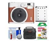 Fujifilm Instax Mini 90 Neo Classic Instant Film Camera (Brown) with 20 Instant Film + Case + Battery + Cleaning Kit