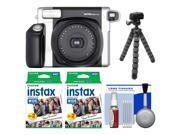 Fujifilm Instax Wide 300 Instant Film Camera with 40 Film Prints  + Flex Tripod Kit