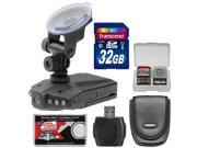 "Zuma HD DVR Car Dashboard Video Recorder Camera with 2.5"" LCD Screen with 32GB Card + Case + Accessory Kit"