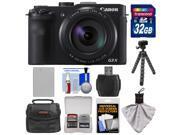 Canon PowerShot G3 X Wi-Fi Digital Camera with 32GB Card + Battery + Case + Flex Tripod + Kit