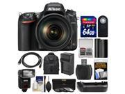 Nikon D750 Digital SLR Camera 24 120mm f 4 VR Lens with 64GB Card Backpack Flash Battery Charger Grip Filters Kit