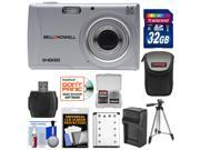 Bell & Howell S40HDZ Digital Camera (Silver) with 32GB Card + Battery & Charger + Case + Tripod + Kit