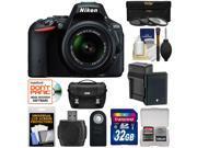 Nikon D5500 Wi-Fi Digital SLR Camera & 18-55mm VR DX Lens (Black) - Factory Refurbished with 32GB Card + Battery + Charger + Case + 3 UV/CPL/ND8 Filters + Kit