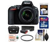 Nikon D5500 Wi-Fi Digital SLR Camera & 18-55mm VR DX Lens (Black) - Factory Refurbished with 32GB Card + Case + Strap + Kit