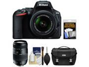 Nikon D5500 Wi-Fi Digital SLR Camera & 18-55mm VR DX Lens (Black) - Factory Refurbished with 70-300mm Zoom Lens + Case + Kit