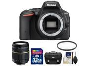 Nikon D5500 Wi-Fi Digital SLR Camera Body (Black) - Factory Refurbished with Tamron 18-200mm Zoom Lens + 32GB Card + Case + Filter + Kit