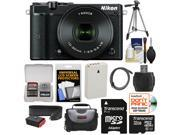 Nikon 1 J5 Wi-Fi Digital Camera & 10-30mm Lens (Black) with 32GB Card + Battery + Strap + Case + Tripod + Kit