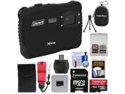 Coleman Xtreme C6WP HD Shock & Waterproof Digital Camera (Black) with 16GB Card + Reader + Case + Kit
