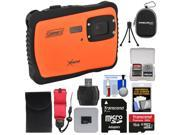Coleman Xtreme C6WP HD Shock & Waterproof Digital Camera (Orange) with 16GB Card + Reader + Case + Kit