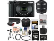 Nikon 1 J5 Wi-Fi Digital Camera & 10-30mm Lens (Black) with 30-110mm VR Lens + 32GB Card + Sling Strap + Case + Tripod + Filter + Kit