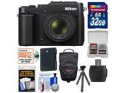 Nikon Coolpix P7800 Digital Camera (Black) - Factory Refurbished with 32GB Card + Battery + Case + Flex Tripod + Kit