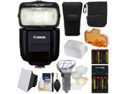 Canon Speedlite 430EX III-RT Flash with Soft Box + Diffuser Bouncer + (8) Batteries & Charger + Kit