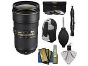 Nikon 24-70mm f/2.8E VR AF-S ED Nikkor Zoom Lens with Backpack + 3 Filters + Kit 9SIA63G3GN3100