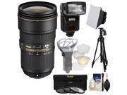 Nikon 24-70mm f/2.8E VR AF-S ED Nikkor Zoom Lens with iTTL Flash + Diffuser + Soft Box + 3 UV/CPL/ND8 Filters + Tripod + Kit 9SIA63G3GN3099