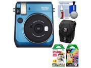 Fujifilm Instax Mini 70 Instant Film Camera (Blue) with 20 Twin & 10 Rainbow Prints + Case + Kit