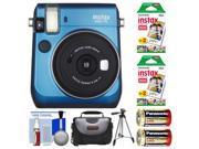 Fujifilm Instax Mini 70 Instant Film Camera (Blue) with 40 Prints + Case + Batteries + Tripod + Kit