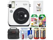 Fujifilm Instax Mini 70 Instant Film Camera (White) with 20 Twin & 10 Rainbow Prints + Album + Case + Batteries + Kit