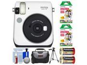 Fujifilm Instax Mini 70 Instant Film Camera (White) with 40 Prints + Case + Batteries + Tripod + Kit