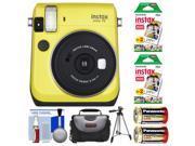 Fujifilm Instax Mini 70 Instant Film Camera (Yellow) with 40 Prints + Case + Batteries + Tripod + Kit