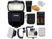 Canon Speedlite 430EX III-RT Flash with Bracket & Cord + Soft Box + Batteries & Charger + Kit