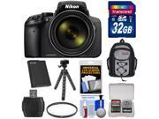 Nikon Coolpix P900 Wi-Fi 83x Zoom Digital Camera with 32GB Card + Battery + Backpack + Flex Tripod + Filter + Kit