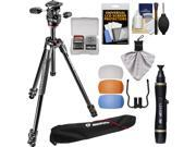 """Manfrotto 290 Xtra 67.5"""" Professional Tripod with 3-Way Head & Case Kit with Flash Diffusers & DSLR Cleaning Kit"""