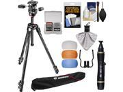 """Manfrotto 290 Xtra 70"""""""" Carbon Professional Tripod with 3-Way Head & Case Kit with Flash Diffusers & DSLR Cleaning Kit"""" 9SIA63G3PD8883"""