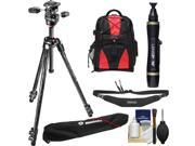 """Manfrotto 290 Xtra 70"""""""" Carbon Professional Tripod with 3-Way Head & Case Kit with Backpack + Camera Strap & DSLR Cleaning Kit"""" 9SIA63G3PD8887"""