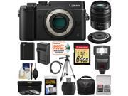 Panasonic Lumix DMC-GX8 4K Wi-Fi Digital Camera Body (Black) with 15mm & 45-150mm Lenses + 64GB Card + Battery + Charger + Case + Flash + Tripod + Kit