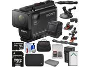 Sony Action Cam HDR-AS50R Wi-Fi HD Video Camera Camcorder & Live View Remote + 64GB Card + Battery/Charger + Cases + 2 Helmet & Suction Cup Mounts Kit 9SIA63G3X20156