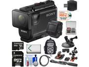 Sony Action Cam HDR-AS50R Wi-Fi HD Video Camera Camcorder & Live View Remote + 64GB Card + Battery + Backpack + 2 Helmet & Suction Cup Mounts + Kit 9SIA63G3X20166