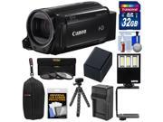 Canon Vixia HF R70 16GB Wi-Fi 1080p HD Video Camcorder with 32GB Card + Battery & Charger + Case + Flex Tripod + 3 Filters + LED Light + Kit