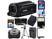 Canon Vixia HF R700 1080p HD Video Camcorder (Black) with 32GB Card + Battery & Charger + Case + Tripod + 3 Filters + LED Light + Kit