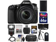 Canon EOS 80D Wi-Fi Digital SLR Camera & EF-S 18-135mm IS USM Lens with 64GB Card + Battery + Case + Flash + Tripod + 3 Filters + Kit 9SIA63G42C8449