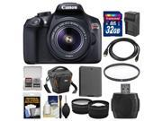 Canon EOS Rebel T6 Wi-Fi Digital SLR Camera & EF-S 18-55mm IS II Lens with 32GB Card + Case + Battery & Charger + Filter + Tele/Wide Lens Kit 9SIA63G42C8441