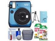 Fujifilm Instax Mini 70 Instant Film Camera (Blue) with 40 Prints + Case + Album + Tripod + Kit