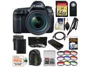 Canon EOS 5D Mark IV 4K Wi-Fi Digital SLR Camera & EF 24-70mm f/4L IS USM Lens + 64GB SD Card + Battery & Charger + Backpack + 9 Filters + Strap Kit 9SIAB925C69411