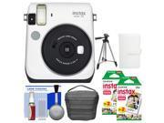 Fujifilm Instax Mini 70 Instant Film Camera (White) with 40 Prints + Case + Album + Tripod + Kit