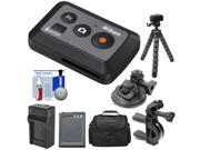 Nikon ML L6 Wireless Shutter Release Remote Control with Bike Handlebar Suction Cup Mount EN EL12 Battery Charger Case Tripod Kit for KeyMission 170