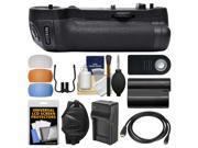 Vivitar MB-D17 Pro Series Multi-Power Battery Grip for Nikon D500 DSLR Camera + EN-EL15 Battery & Charger + Remote + Wrist Strap + Flash Diffusers Kit
