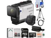 Sony Action Cam FDR X3000R Wi Fi GPS 4K HD Video Camera Camcorder Live View Remote with 64GB Card Battery Case Tripod Kit
